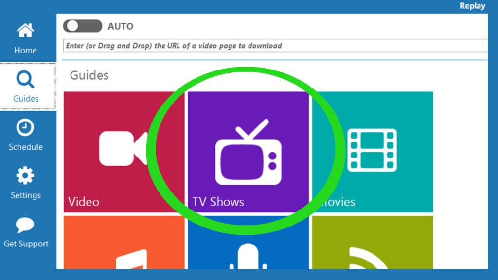 step 1 click tv shows